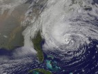 NASA-Bild von Hurricane Sandy (picture alliance / dpa /NASA)