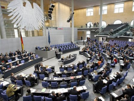 Blick in den Bundestag in Berlin (AP)