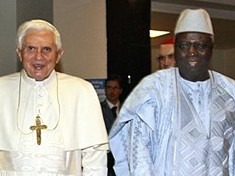 Papst Benedikt XVI. und FAO-Chef Jacques Diouf in Rom (AP)