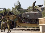 Israelischer Merkava-Panzer am Gaza-Streifen (15.10.2012) (picture alliance / dpa / Jim Hollander)