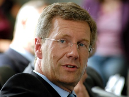 Bundespräsident Christian Wulff (CDU) (Deutschlandradio / Bettina Straub)