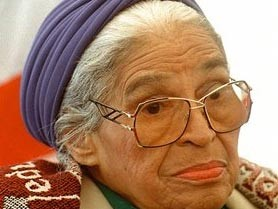Rosa Parks im April 1998 (AP)