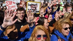 """""""March for our lives"""" in Washington (dpa / abaca / Olivier Douliery)"""