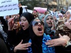 Protestierende Frauen in Ägypten (picture alliance / dpa / Mohamed Omar)
